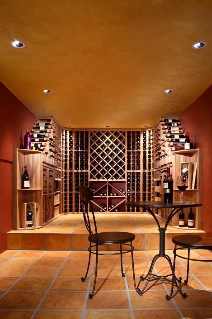 Remodeled Wine cellar