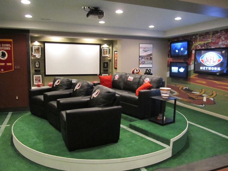 Man cave picture for Neil Kelly Remodeling story on man caves