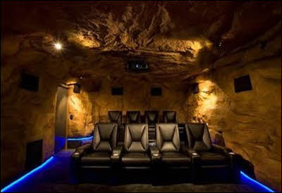 A man cave that looks like a real cave in Neil Kelly story on Man Cave Remodeling project