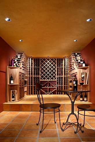 Neil Kelly Design Consultant David Ewing, created this wine cellar in a man cave.