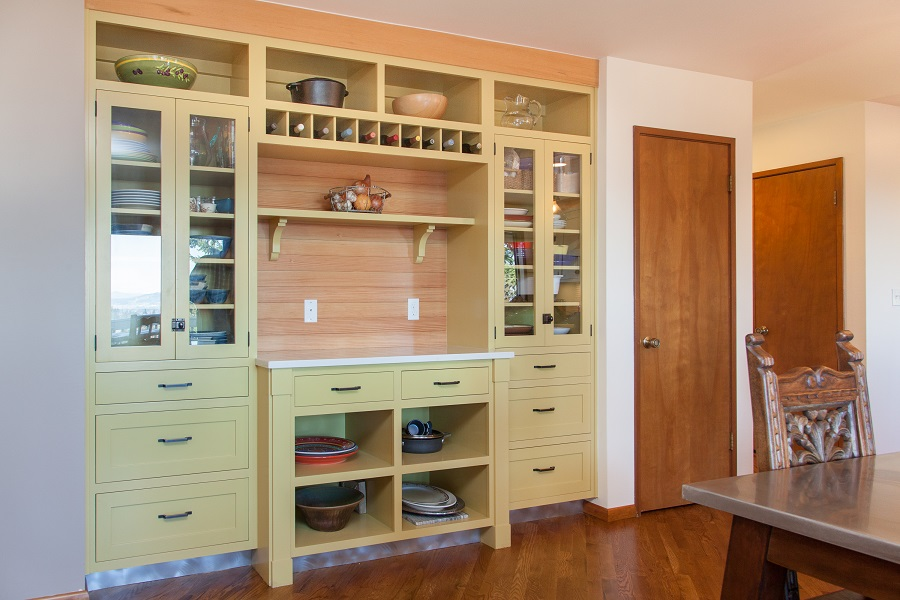 Mid-Centry pantry after Neil Kelly Design Remodel