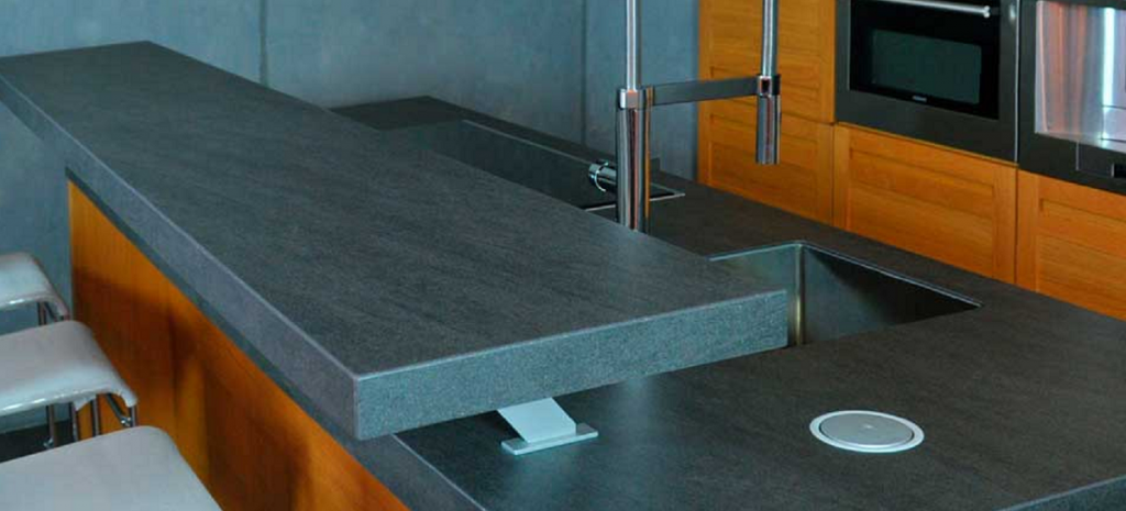 Kitchen remodel ideas including neolith countertop