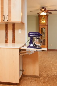 Mixer Pop-out in small kitchen design