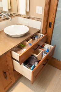 sink drawers in bathroom retreat Neil Kelly story