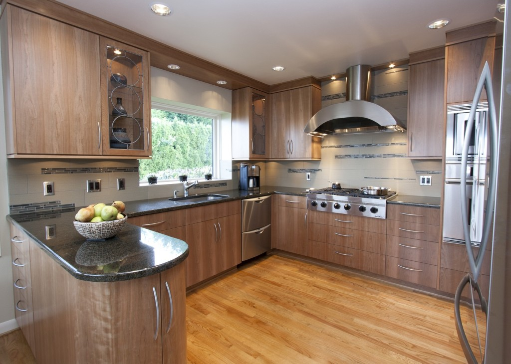 Green cabinets in a Neil Kelly Kitchen
