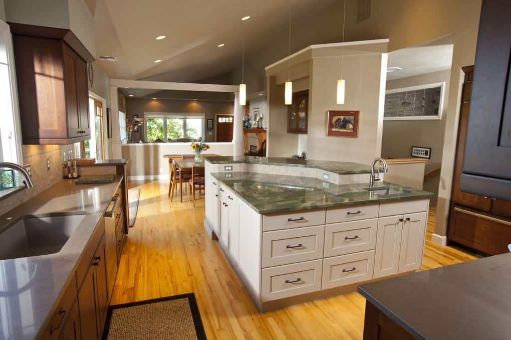 Kitchen remodel project in Eugene Contemporary Home by Neil Kelly
