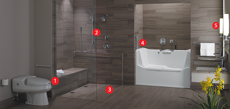 Universal Bathroom Design Modern Universal Design Bathroom Remodel Modern