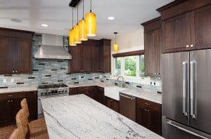 Kitchen by Byron Kellar and Mary Miksch seen on job tour.