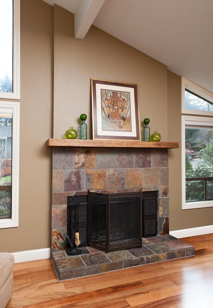 Neil Kelly remodels living rooms and restores fireplaces