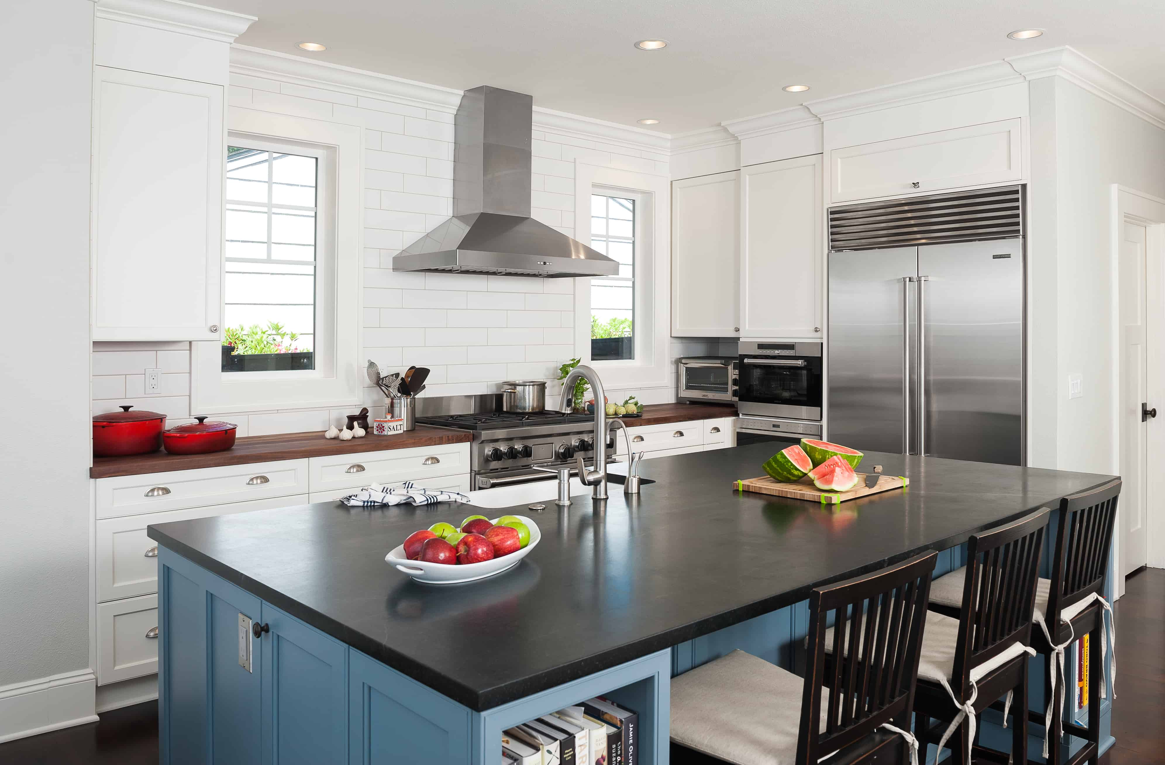 Above This Lake Oswego Kitchen Was Greatly Influenced By Farmhouse
