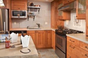 Kitchen in Sunriver condo.