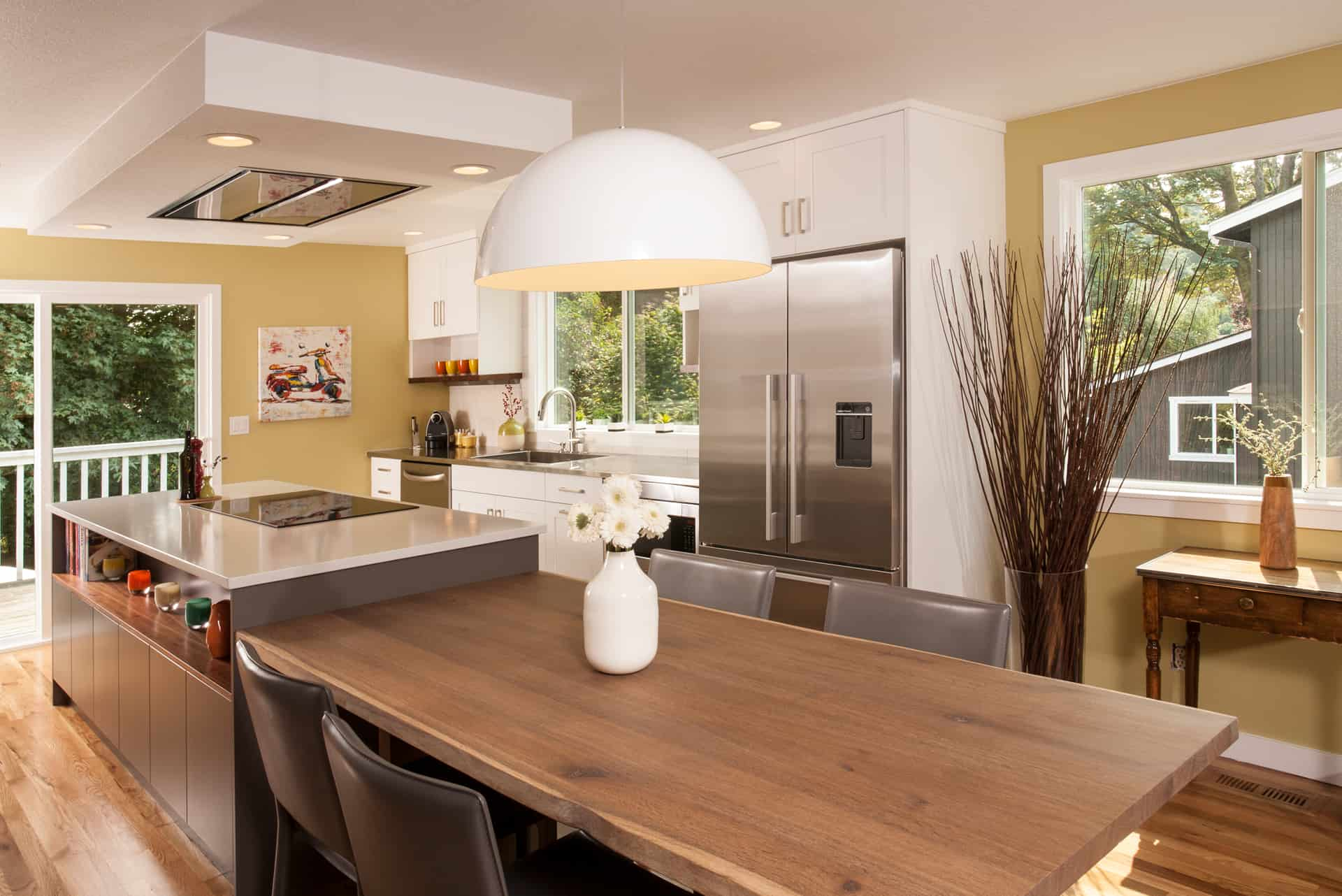 Neil Kelly updated this mid-century modern kitchen during a kitchen remodel