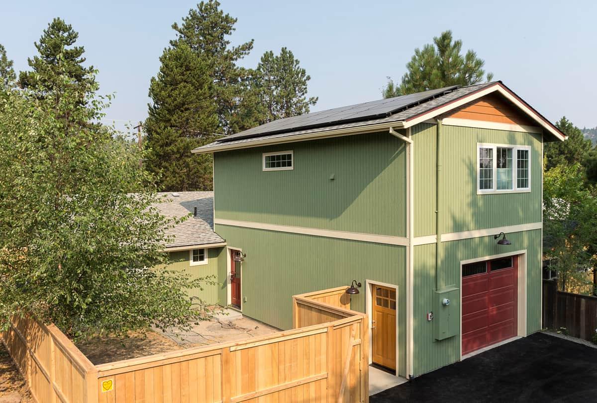 Solar panel installation, Bend addition construction