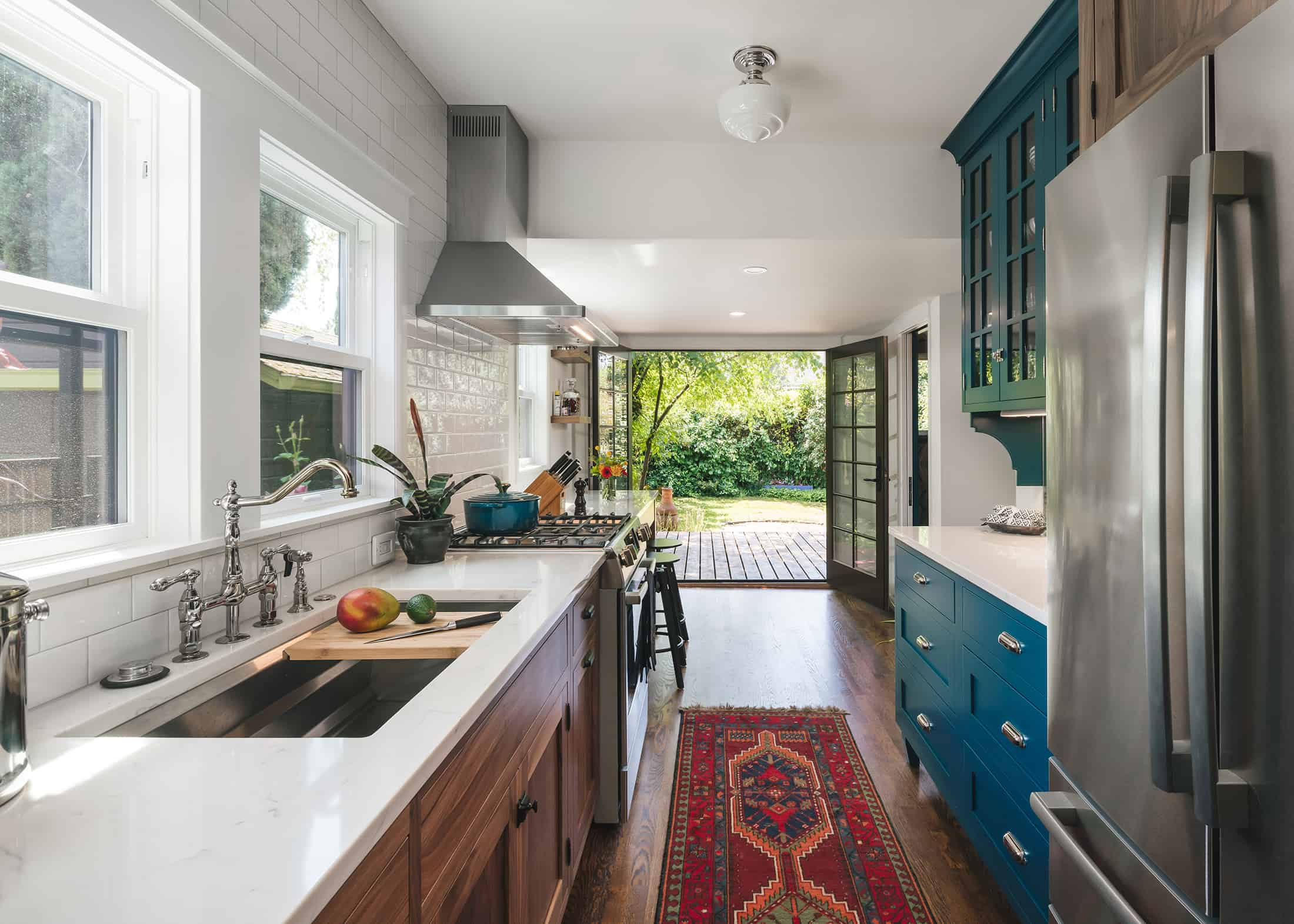 Portland, Oregon kitchen featuring aspects of Biophilic Design