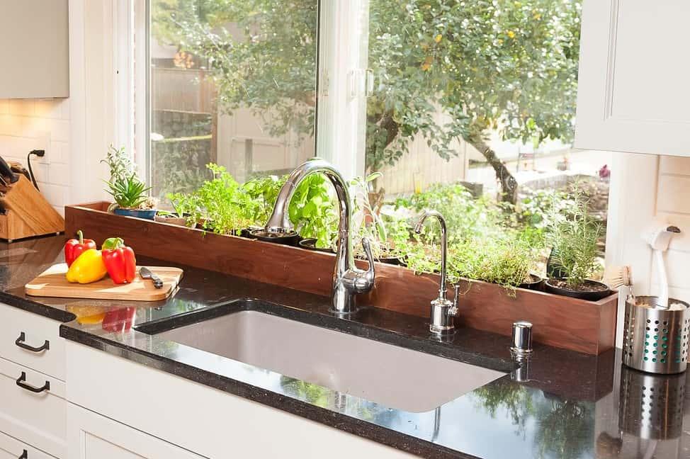 portland kitchen indoor herb garden