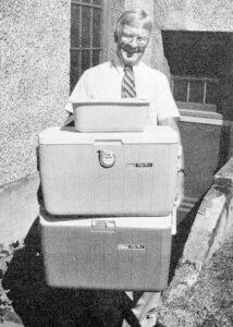 Founder Neil Kelly volunteering for Meals on Wheels